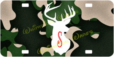 Deer Head Monogrammed License Plate Car Tag Custom NEW