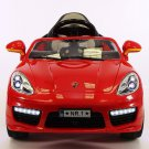 Porsche Boxster Style 12V Kids Ride On Toy Car MP3, Battery Powered Wheels RC Remote | Red