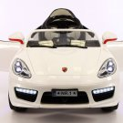 Porsche Boxster Style 12V Kids Ride On Toy Car MP3,Battery Powered Wheels RC Remote | White
