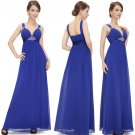 Sexy Deep V-neck Chiffon Elegant Long Evening Party Dresses  Free shipping