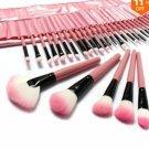 32 PCS Pink Eyeshadow Eyebrow Blush Makeup Brushes Cosmetic Set  $21.99 free shipping