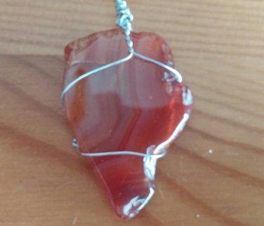 Handmade Agate slice pendant