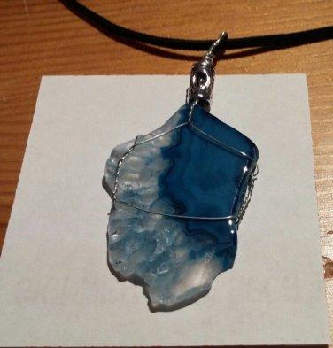 Sky Blue Agate pendant