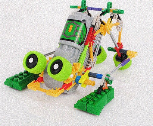 LOZ 3012  Robotic Frog, DIY Toy, Robotic Toy, Educational Toy, Electronic Toy,Building Block Toy