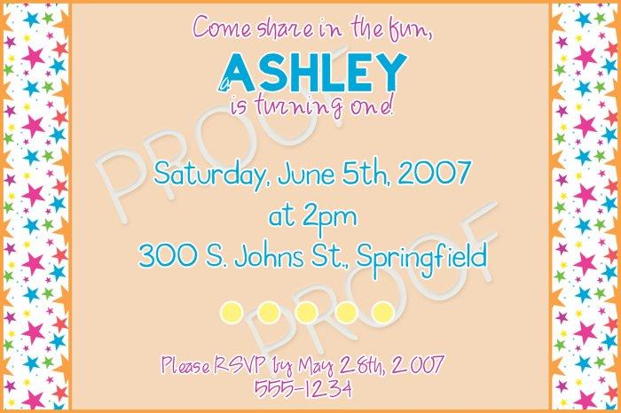 Birthday Invitation Sample