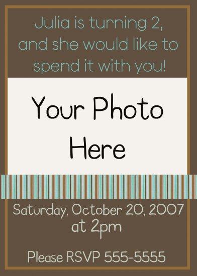 Birthday Invitation Sample 2