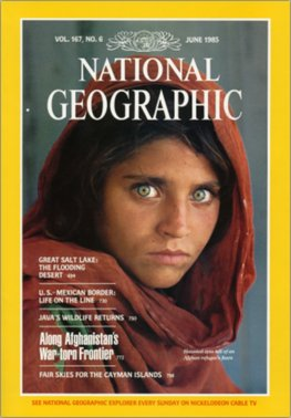 National Geographic Magazine (June 1985) Haunted Eyes Afghan Girl