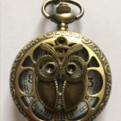 Personalized Quartz Bronze Owl Pocket Watch Necklace Steam Punk