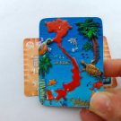 3D Resin World Tourism Souvenir Fridge Magnet - Vietnam