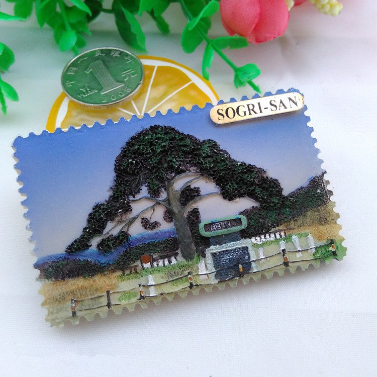 3D Resin World Tourism Souvenir Fridge Magnet - Snow Mountain korea