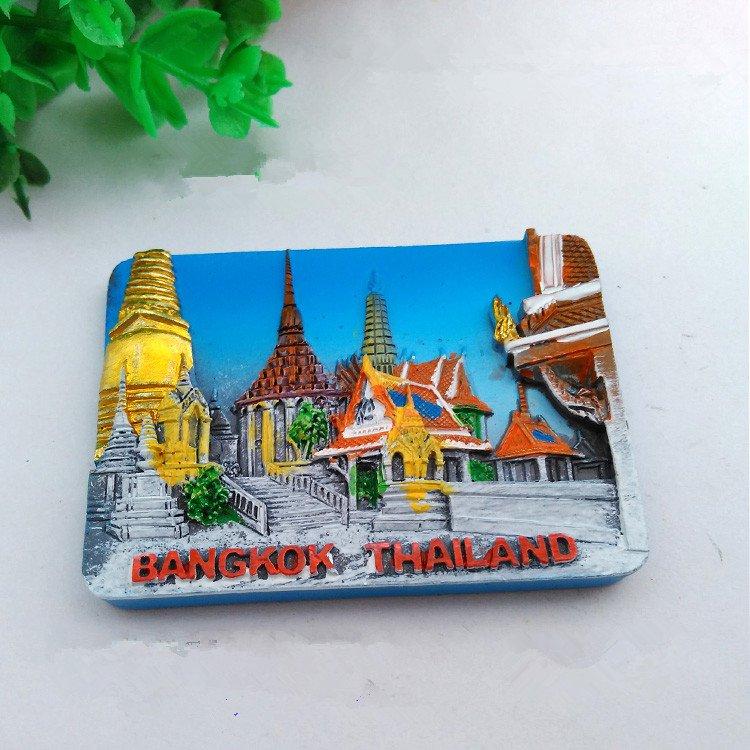 3D Resin World Tourism Souvenir Fridge Magnet - Bangkok Thailand