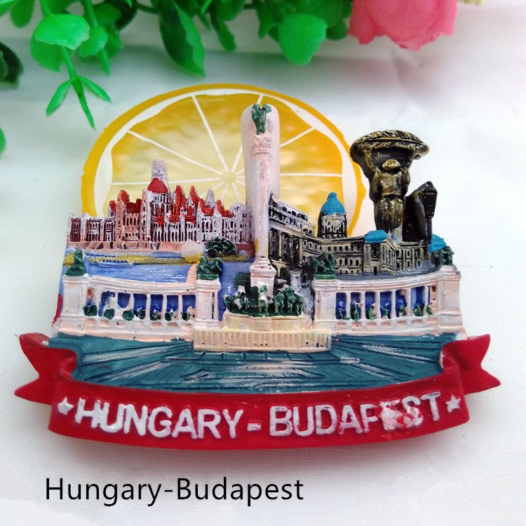 3D World Tour Souvenir Fridge Magnet -Budapest Hungary