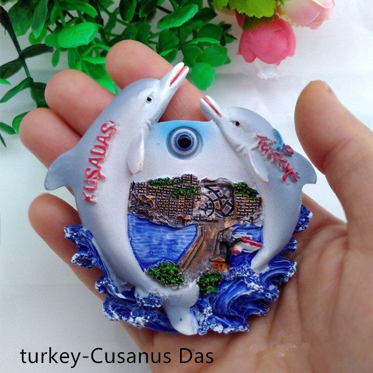 3D World Tour Souvenir Fridge Magnet - Library Saddas Turkey