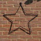 Large Star Hanger Ornament Garden Patio Americana Wrought Iron Black Country
