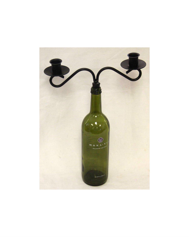 Wine Bottle Candelabra Candlestick Holder Taper Candle