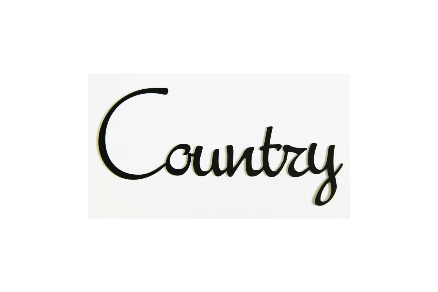 Country wrought iron word art sign primitive rustic decoration for Decoration word