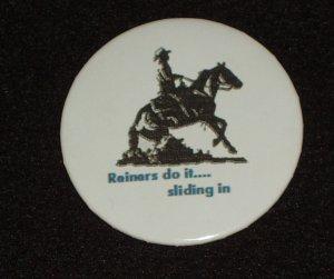 """Reining horse """"reiner's do it ....  H 0004"""