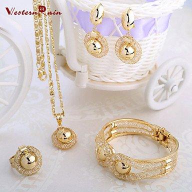 WesternRain Charming Lady Gold Plated Jewelry Elegant Fashion Bridal Wedding Dress Accessories