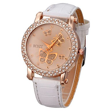 Women�s Watch Diamante Butterflies Pattern Dial Cool Watches Unique Watches #00768488