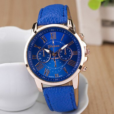 Ladies� Round Dial Case Leather Watch Brand Fashion Quartz Watch Sport Watch Cool Watches