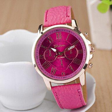Ladies� Round Dial Case Leather Watch Brand Fashion Quartz Watch Sport Watch Cool Watches