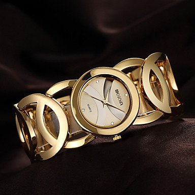 WEIQIN®Brand Luxury Crystal Gold Watches Women Fashion Bracelet Quartz Watch Shock Waterproof