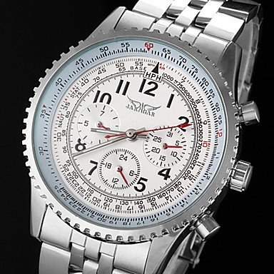 Men�s Automatic Mechanical 6 Pointers Silver Steel Band Wrist Watch