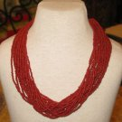 Red Coral Necklace - Natural Coral Beads Necklace - Vintage Red Coral Necklace.