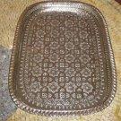 Moroccan Silver Tray - Moroccan Serving Tray -Silver Tea Tray - Silver Tea tray