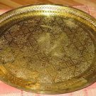 Moroccan Brass Tray - Vintage tray - Brass tray - Serving brass tray - Gold tray