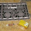 henna tattoo kit-Henna tattoo-Natural henna tattoo-Henna stencil-Henna powder