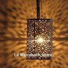 Moroccan silver lantern - Moroccan silver lamp - Moroccan silver light - lantern