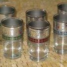 Silver Moroccan Tea Glasses- Moroccan Silver Tea Glasses-  Silver tea Cups
