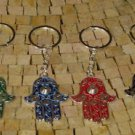 Hamsa Key Holder - kabbalah hamsa - Silver Hamsa key chain - Judaica Keychain