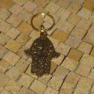 Brass Hamsa Charm Key Chain-Brass hamsa keychain-Hamsa keychain - Brass Keychain