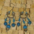 Moroccan Turquoise Bohemian Chandelier Earrings