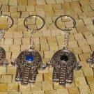 Hamsa Hand Key Chain - Evil Eye Silver Plated Hamsa Keychain - Hamsa key Holder