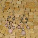 Orchid Dangle Earrings - Orchid Medium Earrings - Silver orchid earrings