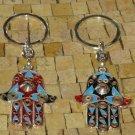 Hamsa Keychain - Hamsa Hand Keychain - Hamsa Evil Eye Keychain - Hamsa Keychains