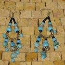 Turquoise Black Earrings -Dangle Earrings -Drop earrings - Turquoise Earrings