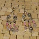 Light Pink Earrings - Silver pink Earrings - long earrings - Dangle earrings