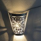 Moroccan Wall Light Sconce- Moroccan Wall Sconces- Wall Light in Silver - Sconce