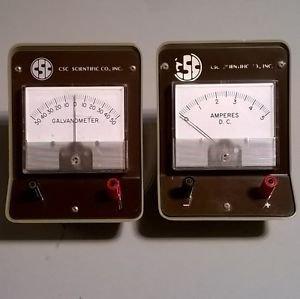 CSC Scientific Galvanometer Education Meter & Amperes D.C.