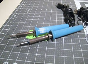 (2) Lot Wall Lenk Soldering Iron Irons, 25+40-watt