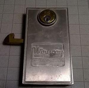 Vintage Industrial Sliding Door Lock Wireway Steam Punk Arts Crafts Made in USA