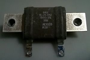 NEW VISHAY DALE HL-24-09Z Wire Wound Resistor 100 OHMS 5% 30W Chassis Mount