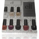 e.l.f. color collection 8 nail polish colors and a nail block. (Open Box/ Not Used)