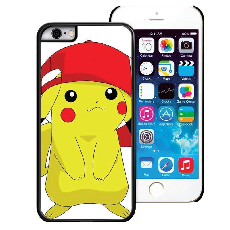 Pokemon Pikachu Phone Back Skin Case Cover For Apple iPhone 6 6s Plus