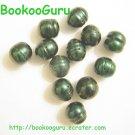 Dozen Freshwater Pearls - Iridescent Green - Jewelry - Creation - Supplies, BooKooGuru