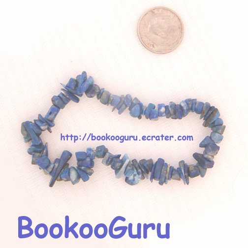 Lapis Lazuli Gemstone Bracelet-Lovely Shades of Blue-Genuine Gemstone-OOAK, BooKooGuru